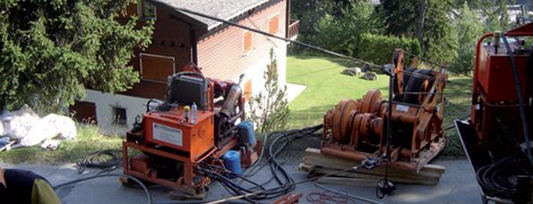 chantier tirage de cable